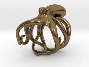 Octopus Ring 19mm in Natural Bronze