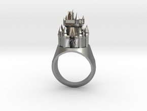 DW Cinderellas Castle Inspired Ring Size 7/P in Raw Silver