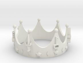 Geekings Crown in White Natural Versatile Plastic