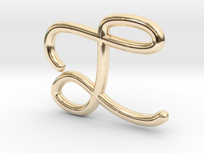 L&A in 14k Gold Plated Brass