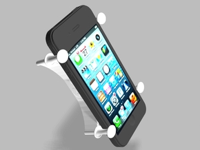 X Bracket Universal Smartphone Holder in White Strong & Flexible