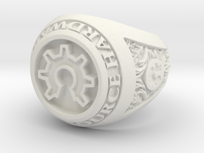 Open Source Ring in White Natural Versatile Plastic
