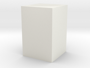 Plinth 1 in White Natural Versatile Plastic