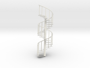 Staircase big: 245mm x 80mm in White Strong & Flexible