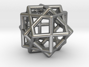 Compound of Three Cubes in Natural Silver