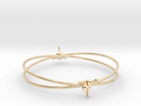 LuckySplash bracelet in 14k Gold Plated Brass