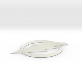 [TV] the Flash logo in White Natural Versatile Plastic