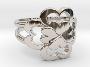 Size 7 Wife Ring  in Rhodium Plated Brass