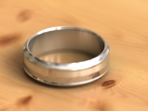 Geom ring3 in Fine Detail Polished Silver