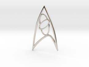Star Trek - Starfleet Science Sign in Rhodium Plated Brass
