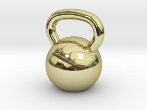 Kettlebell Pendant in 18K Yellow Gold