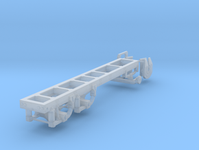 1/87th tandem axle frame, suitable for KW CBE in Smooth Fine Detail Plastic