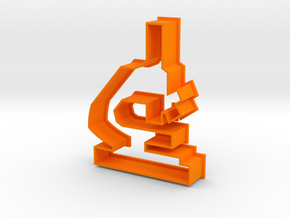 Microscope Cookie Cutter! in Orange Processed Versatile Plastic