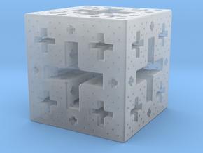 Jerusalem Cube Fractal Pendant in Smooth Fine Detail Plastic