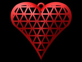 Heart Cage 3 in Red Strong & Flexible Polished