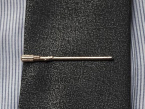 Star Wars: Light Saber Tie Clip in Polished Bronzed Silver Steel