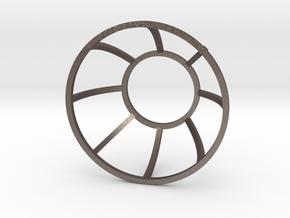 Lined Eye in Polished Bronzed Silver Steel