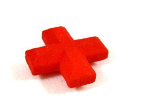 Medical Plus Sign, Heal Token for Flash Point in Red Processed Versatile Plastic