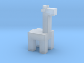 Squared Giraffe in Smooth Fine Detail Plastic