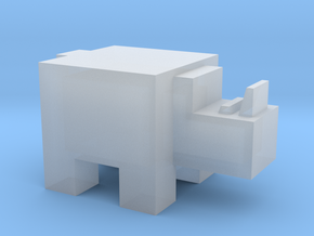 Cubicle Rhino in Smooth Fine Detail Plastic