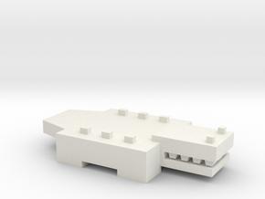 Brick Croc in White Natural Versatile Plastic