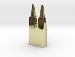 Anhänger  Kölner Dom in 18k Gold Plated Brass