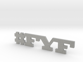 #FYF in Metallic Plastic