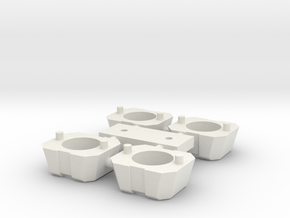 5mm Weapon Ports 4-Pack in White Natural Versatile Plastic