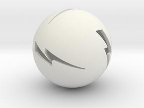 Lightning Ball! in White Natural Versatile Plastic