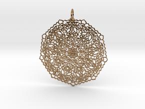 Love Mandala Pendant in Natural Brass