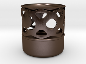 Oil Lamp - Wax Melter S in Polished Bronze Steel