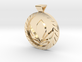 Anna Coronation Pendant in 14k Gold Plated Brass