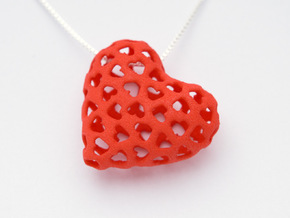 Small hearts, Big love (from $15) in Red Processed Versatile Plastic: Medium