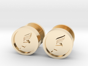 Team Fortress 2 Scout Cufflink in 14k Gold Plated Brass