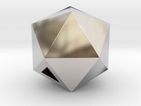 Icosahedron - small / hollow in Platinum