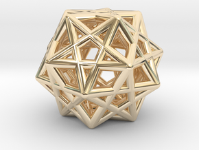 Star Dodecahedron Pendant in 14k Gold Plated Brass