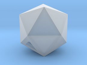 Icosahedron - small / hollow in Smooth Fine Detail Plastic