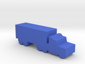 Game Piece, Semi-truck in Blue Processed Versatile Plastic