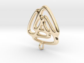 Triangle Fusion Pendant in 14k Gold Plated Brass