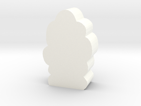 Smoke Column Token in White Processed Versatile Plastic