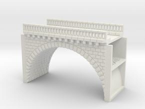 NV1M1 Modular viaduct 1 track in White Natural Versatile Plastic