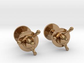 LoveSplash cufflinks in Polished Brass