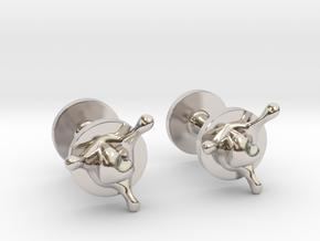 LoveSplash cufflinks in Rhodium Plated Brass