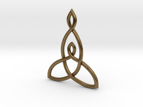 Mother And Child Knot Pendant in Natural Bronze: Medium