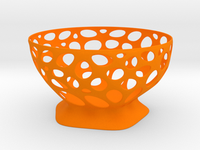 Fruit vase in Orange Processed Versatile Plastic