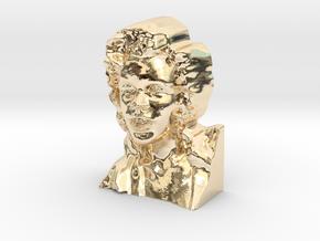 Marilyn Monroe Bust 9cm in 14K Yellow Gold