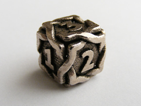'Twined' Dice D6 Gaming Die in Stainless Steel