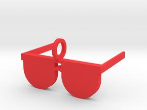 Sunglasses Pendant in Red Processed Versatile Plastic
