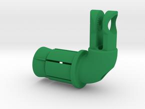 Wheel Skewer Virb Mount KCNC Insert in Green Strong & Flexible Polished