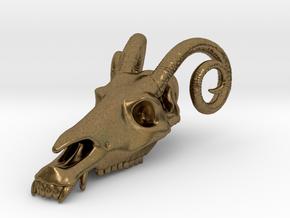 Jersey Devil Skull Pendant in Natural Bronze